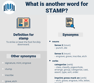 Synonyms For STAMP Antonyms