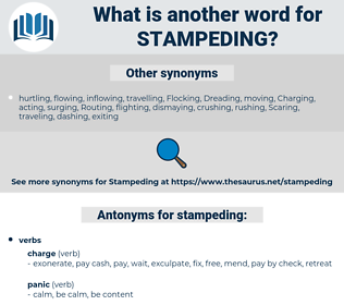 stampeding, synonym stampeding, another word for stampeding, words like stampeding, thesaurus stampeding