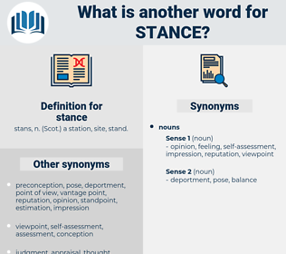 stance, synonym stance, another word for stance, words like stance, thesaurus stance