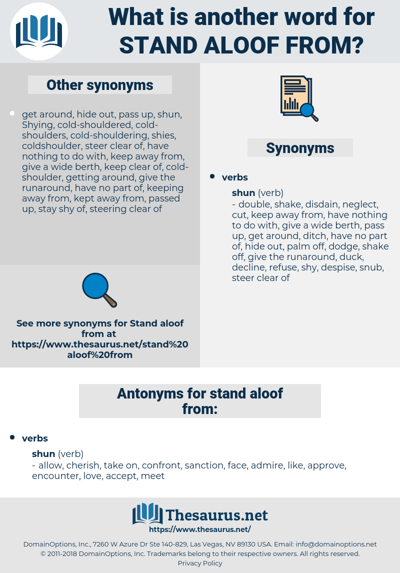 stand aloof from, synonym stand aloof from, another word for stand aloof from, words like stand aloof from, thesaurus stand aloof from