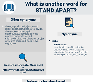 stand apart, synonym stand apart, another word for stand apart, words like stand apart, thesaurus stand apart