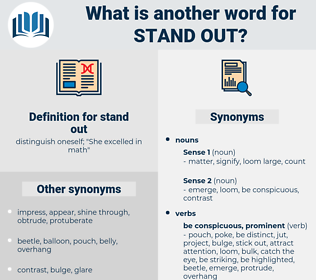 stand out, synonym stand out, another word for stand out, words like stand out, thesaurus stand out