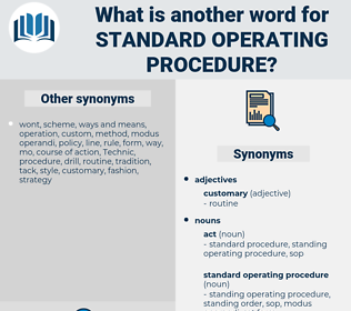 standard operating procedure, synonym standard operating procedure, another word for standard operating procedure, words like standard operating procedure, thesaurus standard operating procedure