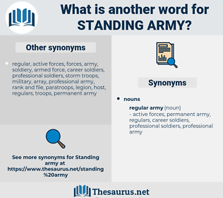 standing army, synonym standing army, another word for standing army, words like standing army, thesaurus standing army