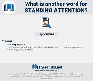 standing attention, synonym standing attention, another word for standing attention, words like standing attention, thesaurus standing attention