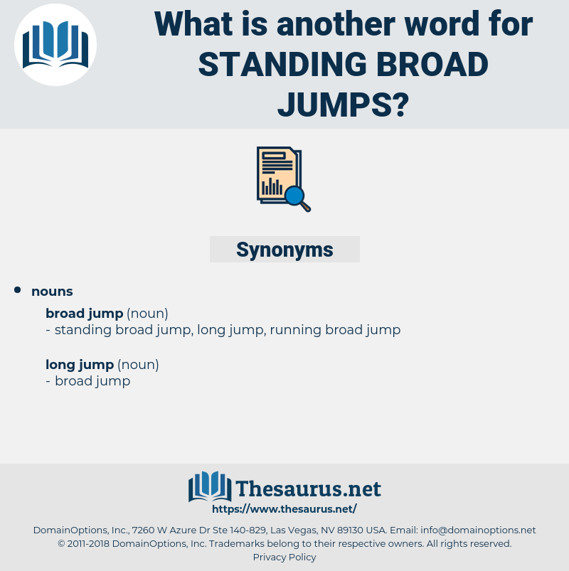 standing broad jumps, synonym standing broad jumps, another word for standing broad jumps, words like standing broad jumps, thesaurus standing broad jumps