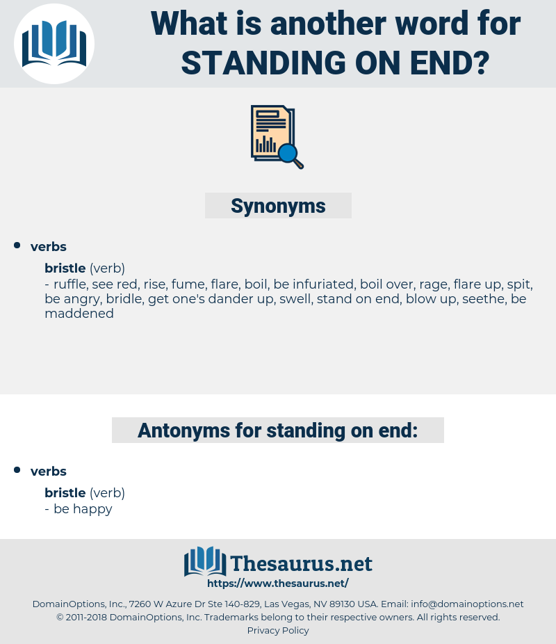standing on end, synonym standing on end, another word for standing on end, words like standing on end, thesaurus standing on end