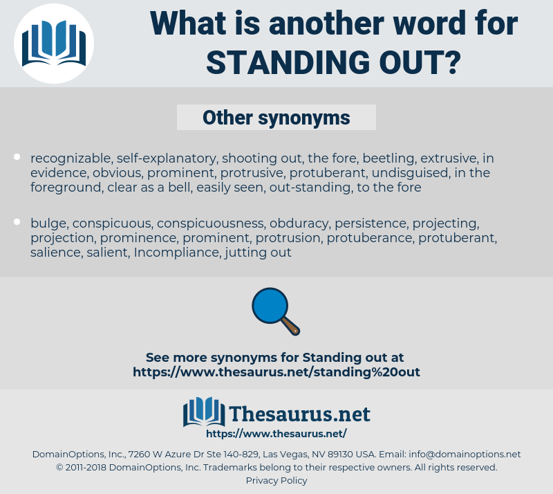 standing out, synonym standing out, another word for standing out, words like standing out, thesaurus standing out