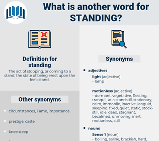 standing, synonym standing, another word for standing, words like standing, thesaurus standing