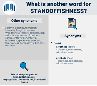 standoffishness, synonym standoffishness, another word for standoffishness, words like standoffishness, thesaurus standoffishness