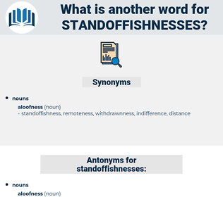 standoffishnesses, synonym standoffishnesses, another word for standoffishnesses, words like standoffishnesses, thesaurus standoffishnesses