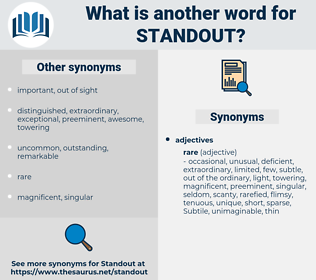STANDOUT, synonym STANDOUT, another word for STANDOUT, words like STANDOUT, thesaurus STANDOUT