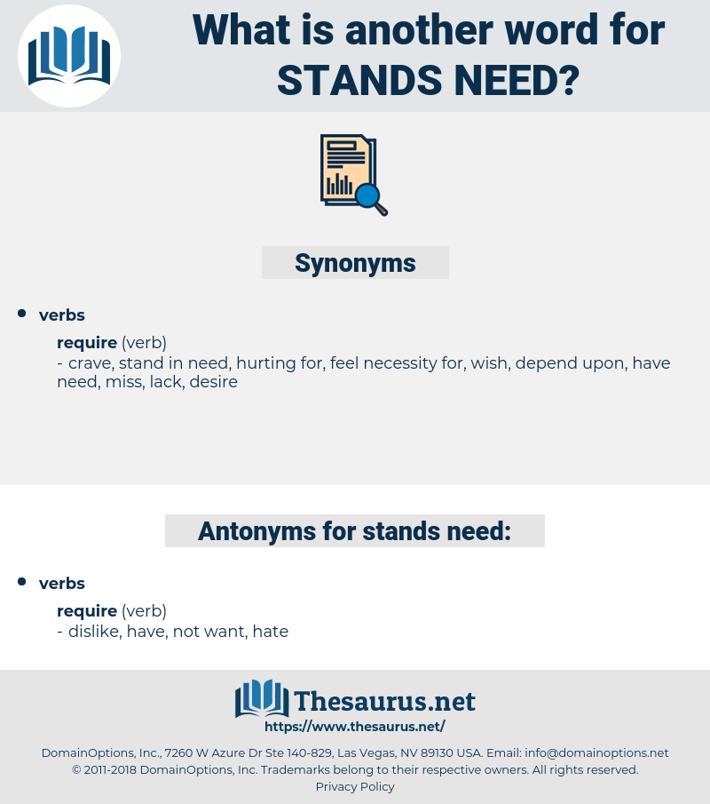 stands need, synonym stands need, another word for stands need, words like stands need, thesaurus stands need