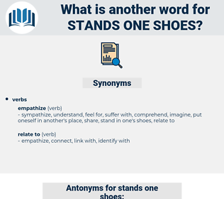 stands one shoes, synonym stands one shoes, another word for stands one shoes, words like stands one shoes, thesaurus stands one shoes