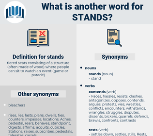 stands, synonym stands, another word for stands, words like stands, thesaurus stands