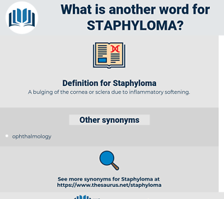 Staphyloma, synonym Staphyloma, another word for Staphyloma, words like Staphyloma, thesaurus Staphyloma