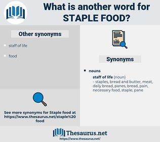 staple food, synonym staple food, another word for staple food, words like staple food, thesaurus staple food