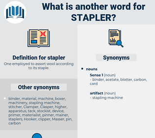 stapler, synonym stapler, another word for stapler, words like stapler, thesaurus stapler