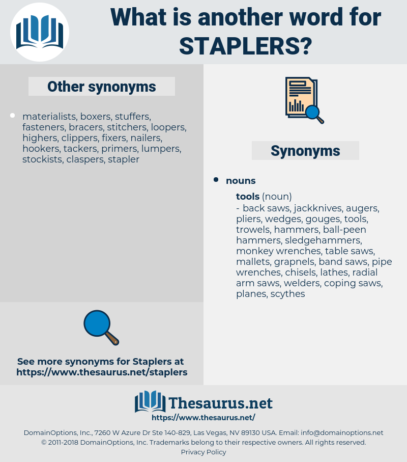 staplers, synonym staplers, another word for staplers, words like staplers, thesaurus staplers