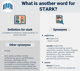 stark, synonym stark, another word for stark, words like stark, thesaurus stark