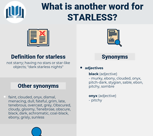 starless, synonym starless, another word for starless, words like starless, thesaurus starless