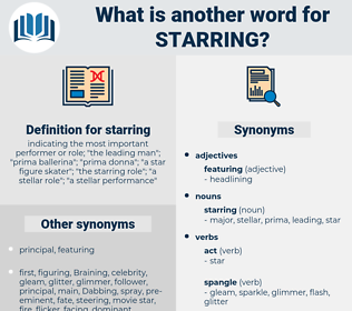 starring, synonym starring, another word for starring, words like starring, thesaurus starring