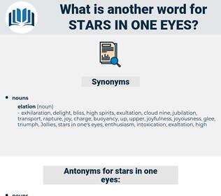 stars in one eyes, synonym stars in one eyes, another word for stars in one eyes, words like stars in one eyes, thesaurus stars in one eyes
