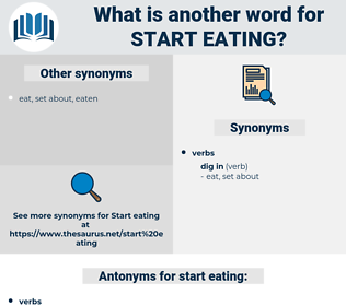 start eating, synonym start eating, another word for start eating, words like start eating, thesaurus start eating