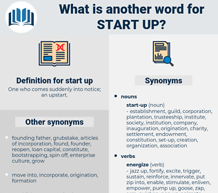 start up, synonym start up, another word for start up, words like start up, thesaurus start up