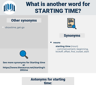 starting time, synonym starting time, another word for starting time, words like starting time, thesaurus starting time