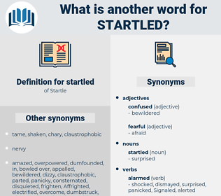 startled, synonym startled, another word for startled, words like startled, thesaurus startled