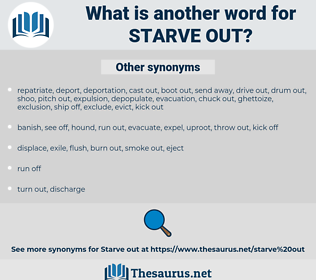 starve out, synonym starve out, another word for starve out, words like starve out, thesaurus starve out