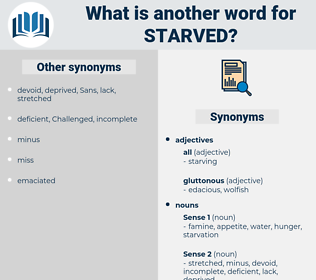 starved, synonym starved, another word for starved, words like starved, thesaurus starved