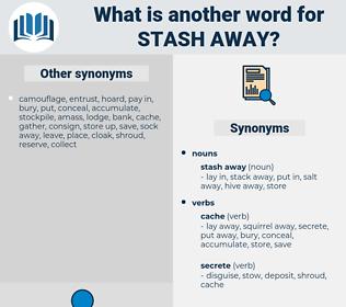 stash away, synonym stash away, another word for stash away, words like stash away, thesaurus stash away
