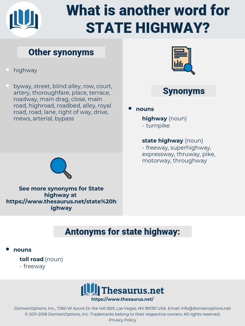 state highway, synonym state highway, another word for state highway, words like state highway, thesaurus state highway