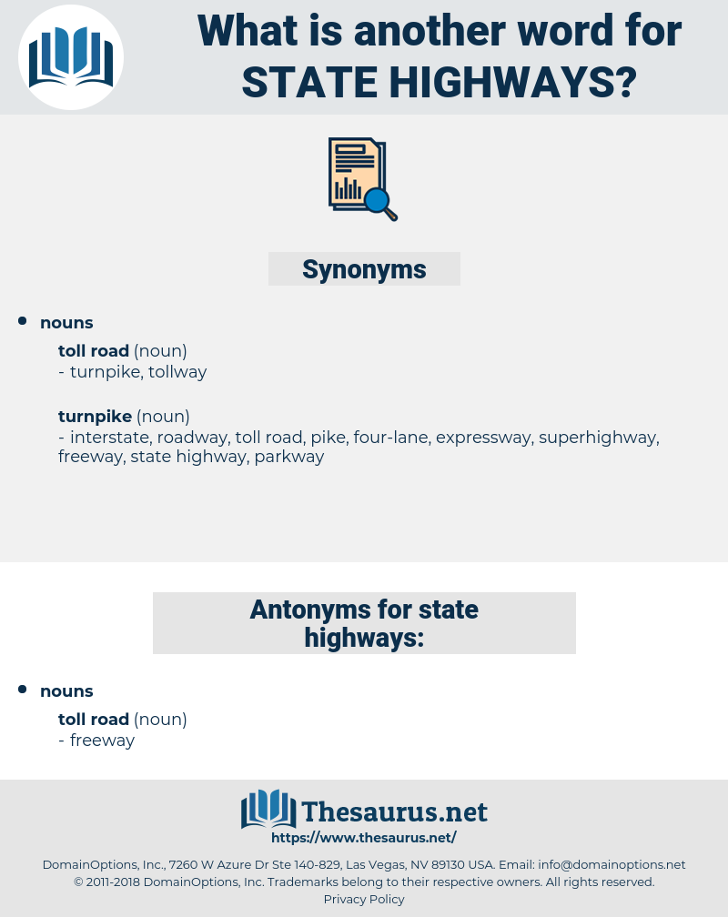 state highways, synonym state highways, another word for state highways, words like state highways, thesaurus state highways