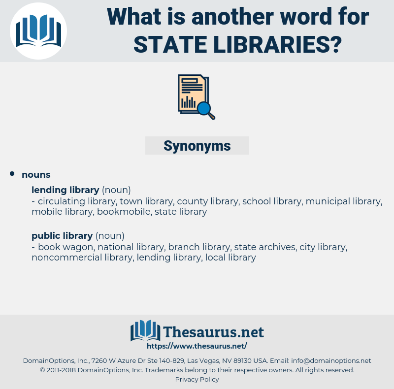 state libraries, synonym state libraries, another word for state libraries, words like state libraries, thesaurus state libraries