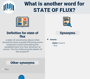 state of flux, synonym state of flux, another word for state of flux, words like state of flux, thesaurus state of flux