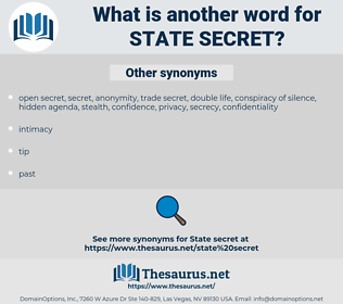 state secret, synonym state secret, another word for state secret, words like state secret, thesaurus state secret