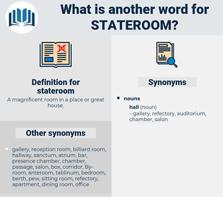 Synonyms for STATEROOM - Thesaurus net
