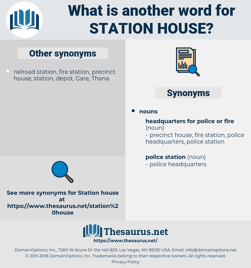 station house, synonym station house, another word for station house, words like station house, thesaurus station house