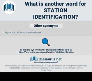 station identification, synonym station identification, another word for station identification, words like station identification, thesaurus station identification