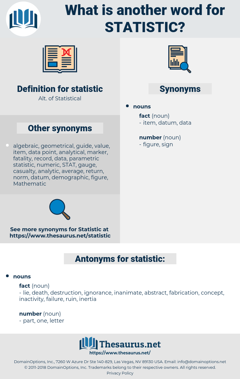 statistic, synonym statistic, another word for statistic, words like statistic, thesaurus statistic