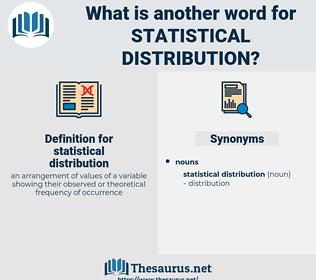 statistical distribution, synonym statistical distribution, another word for statistical distribution, words like statistical distribution, thesaurus statistical distribution