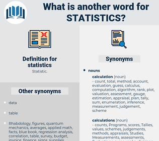 statistics, synonym statistics, another word for statistics, words like statistics, thesaurus statistics