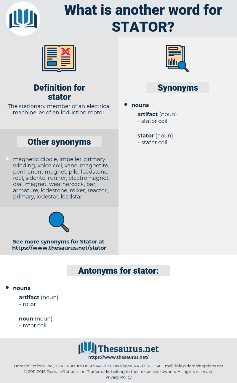 stator, synonym stator, another word for stator, words like stator, thesaurus stator