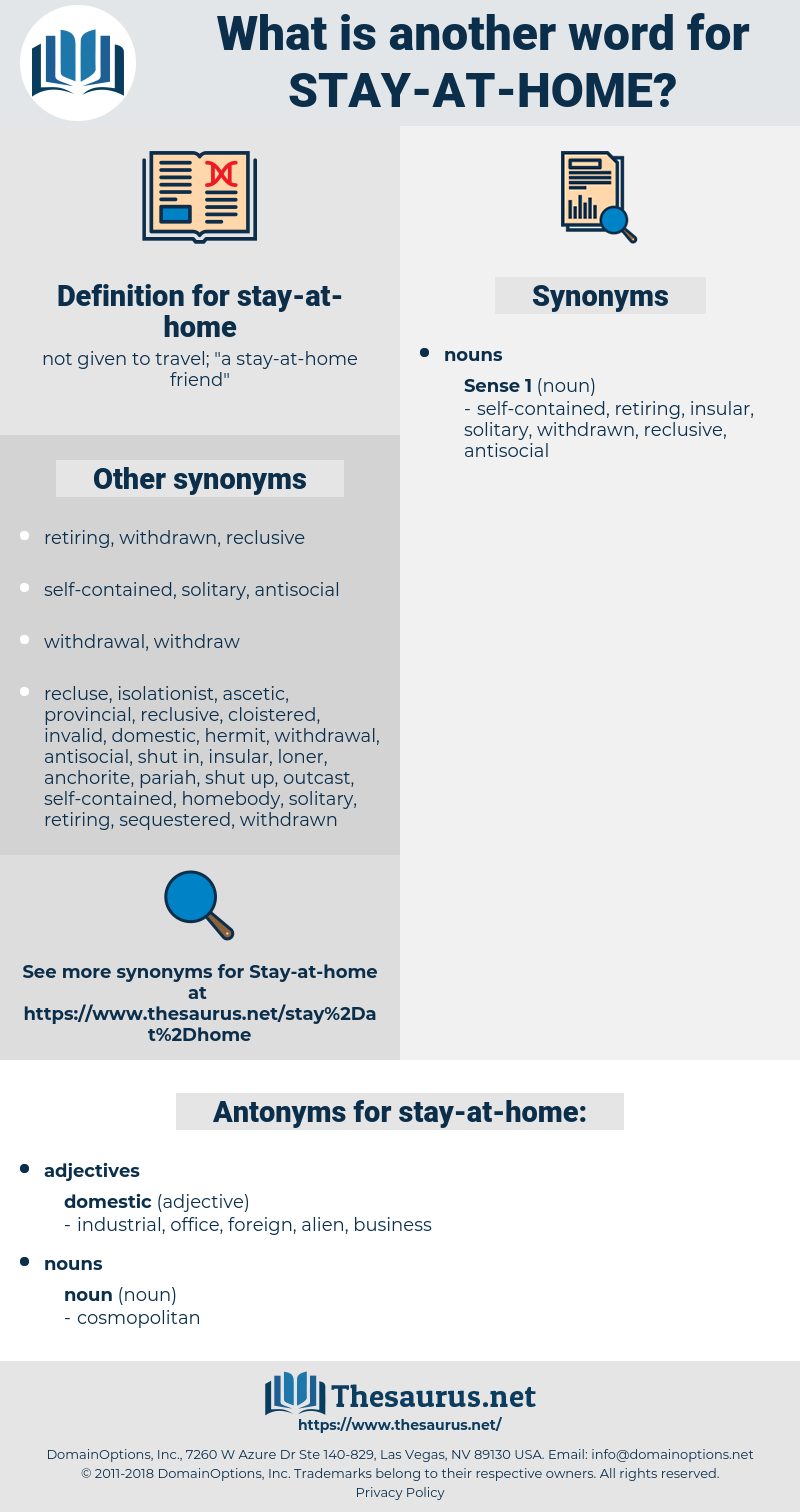 stay-at-home, synonym stay-at-home, another word for stay-at-home, words like stay-at-home, thesaurus stay-at-home