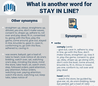 stay in line, synonym stay in line, another word for stay in line, words like stay in line, thesaurus stay in line
