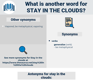 stay in the clouds, synonym stay in the clouds, another word for stay in the clouds, words like stay in the clouds, thesaurus stay in the clouds