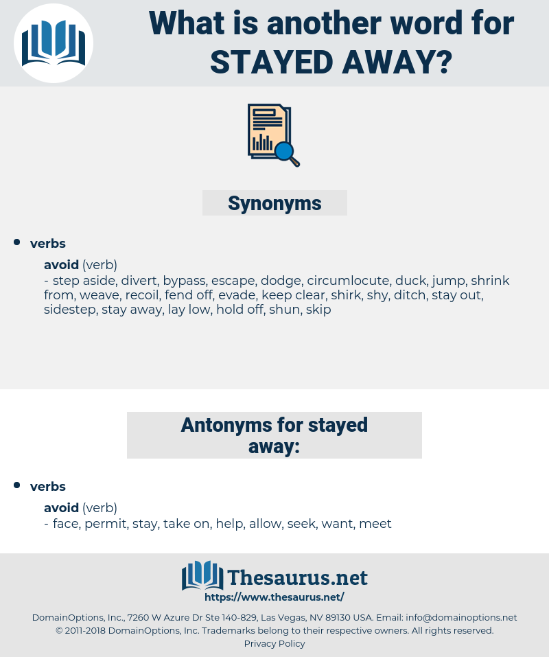 stayed away, synonym stayed away, another word for stayed away, words like stayed away, thesaurus stayed away